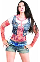 Faux Real Women's Ladies Tattoo Sleeves Contemporary Missy T-Shirt