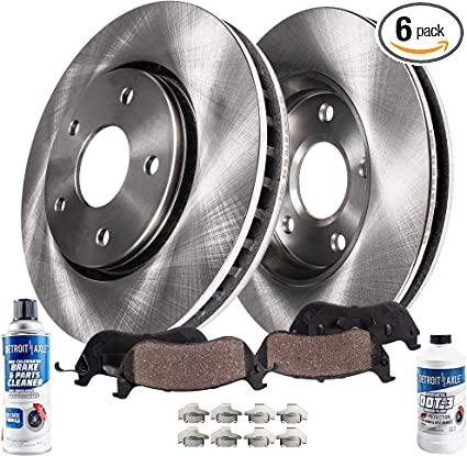Max Performance Metallic Brake Pads F+R See Desc 07 Fit Chrysler Town/&Country