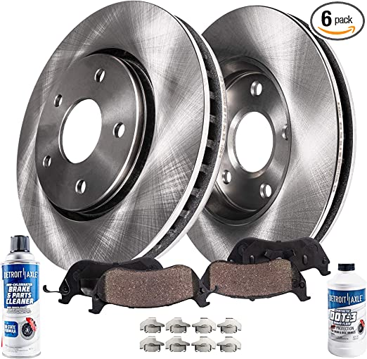 Stirling 2009 For Dodge Caliber Front Cross Drilled Slotted and Anti Rust Coated Disc Brake Rotors and Ceramic Brake Pads Note: w//10.86in Dia Rotor; Rear Drum Brakes; Naturally Aspirated