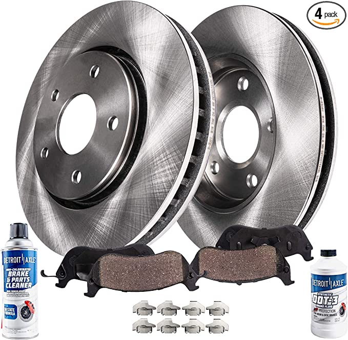 - 2003-2004 Legacy w// 294mm Front Solid - 2002-2004 Outback Detroit Axle 2005-2006 Baja Non-Turbo Front /& Rear Disc Brake Rotors Ceramic Pads w//Hardware for 2003-2004 Subaru Baja -