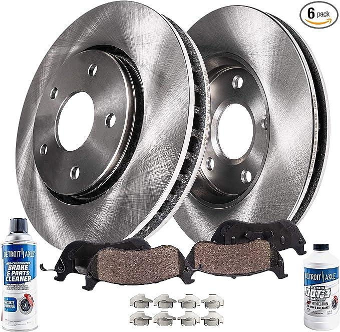Front Rotors w//Ceramic Pads Elite Brakes 2008-2012 Avenger Caliber