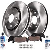 Detroit Axle - 281mm Front Disc Brake Kit Rotors w/Ceramic Pads w/Hardware & Brake Kit Cleaner Replacement for 2001-2007…
