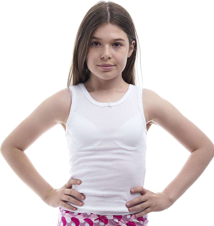 Amazon.com: Rossette Girls Cotton White Camisole Undershirts - Pack of 2  (2, White): Clothing