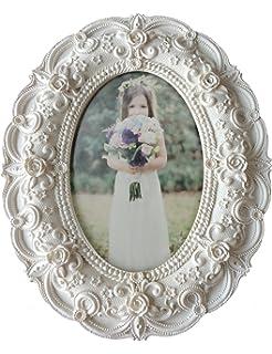 d1480f07bf1 Amazon.com  Usany Pack of 2pcs Mini Oval Small Resin Photo Frame ...
