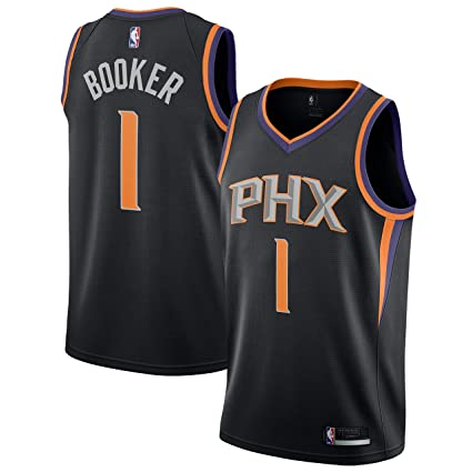 best sneakers 7e93b 54456 Outerstuff Devin Booker Phoenix Suns #1 Black Youth Alternate Swingman  Jersey