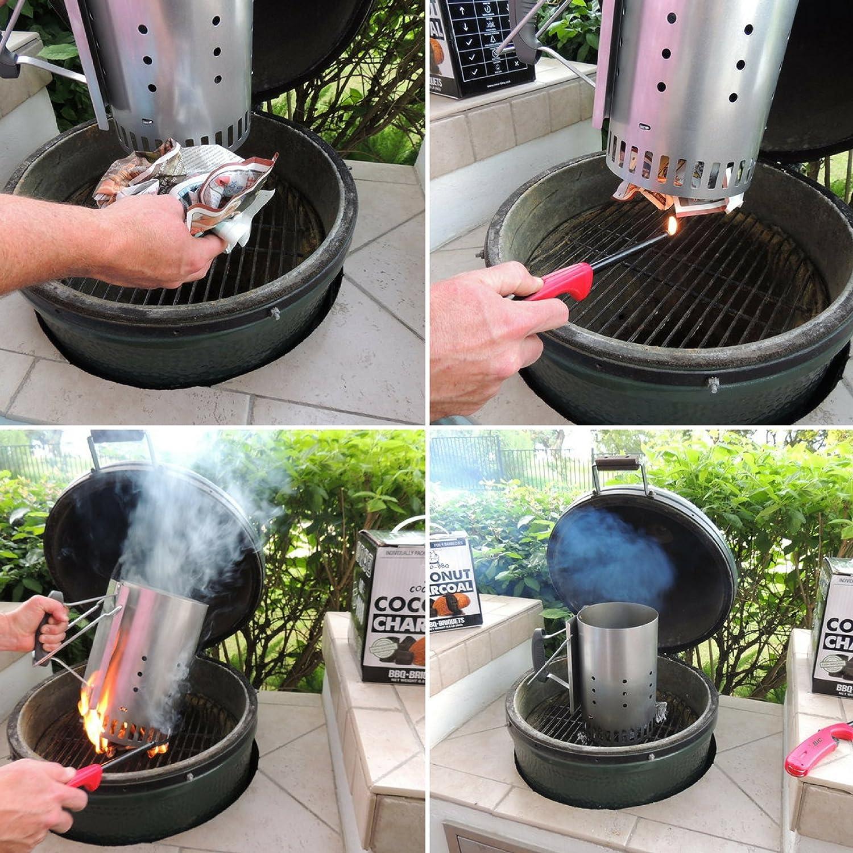 Amazon.com: Carbón de barbacoa ecológico COCO-BBQ hecho de ...
