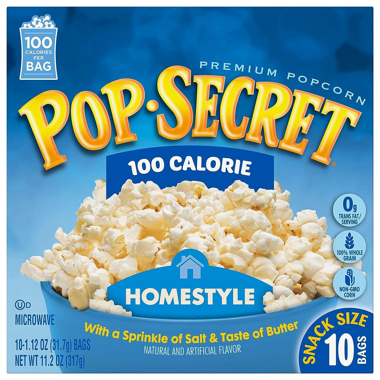 Amazon.com: Pop Secret Snack Size 100 Calorie Homestyle Microwavable ...