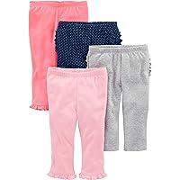 Simple Joys by Carter's Baby - Pantalón para niña (4 Unidades)