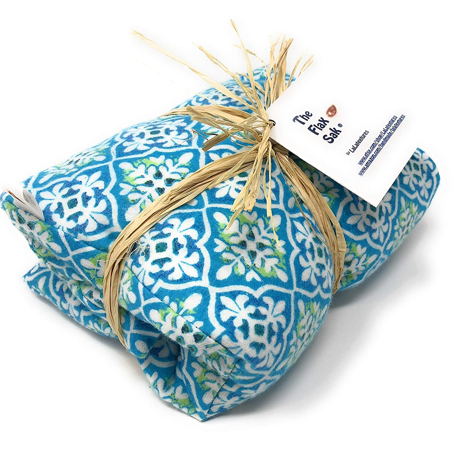 The Flax Sak® Unscented Microwave Heat Pad, Hot/Cold Pack With Washable Cover. Natural Pain Relief. Fleur De Lys