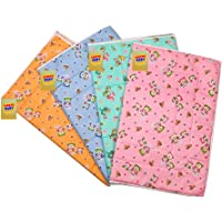 Fareto Nappy Changing Mat/Sleeping mats/Water Proof Bed Protector with Foam Cushioned for New Born Baby 4 Sheets (6-12 Months)