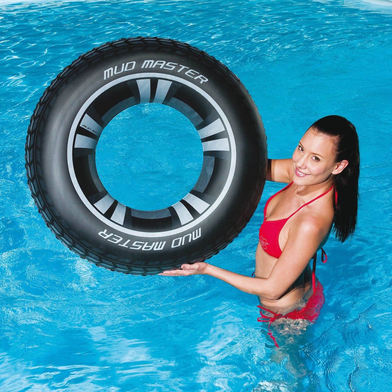 Schwimmreifen Schwimmring Autoreifen Schwimmhilfe Reifen Ring Schwimmen Bestway Ø 91cm Pool Badereifen Schwimmen Mud Master Swim Ring Schramm