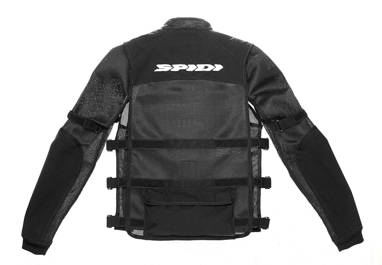 Black SPIDI T187-026-3XL Multi-Tech Armor Evo Jacket Size 3X-Large