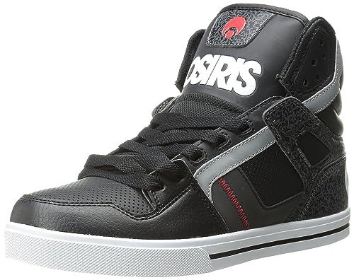 Zapato de skate clon para hombre, negro / blanco / rojo, 5 m US: Amazon.es: Zapatos y complementos