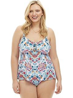 77927b7fe3f6d Always For Me Women s Plus Size Festival Lattice Two Piece Tankini Set -  Ladies  Swimwear