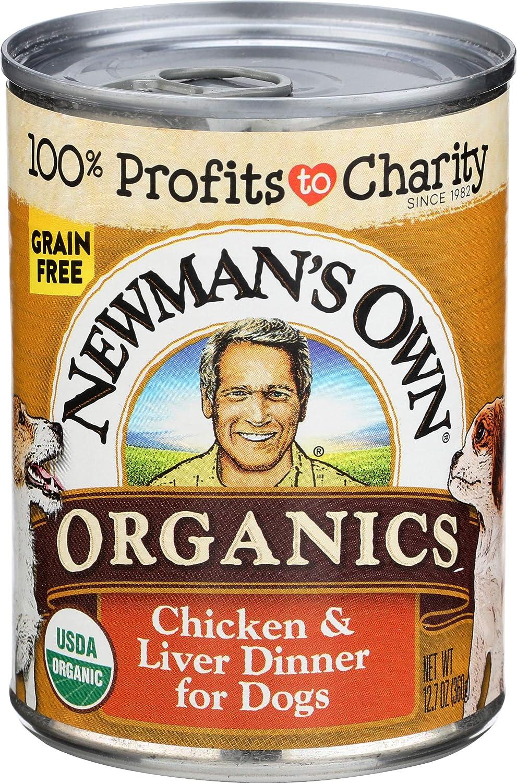Newman's Own Organics, Dog Chicken and Liver Dinner Organic, 12.7 Gram