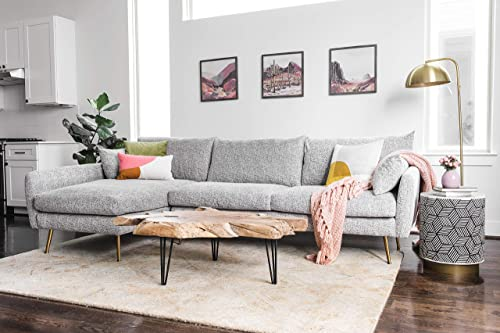 ALBANY PARK Park 114″ Mid-Century Modern Sofa Sectional
