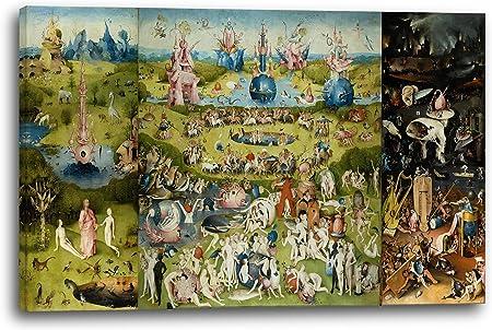 Printed Paintings Impresión Sobre Lienzo (120x80cm): Hieronymus Bosch - El Jardín de Las Delicias: Amazon.es: Hogar