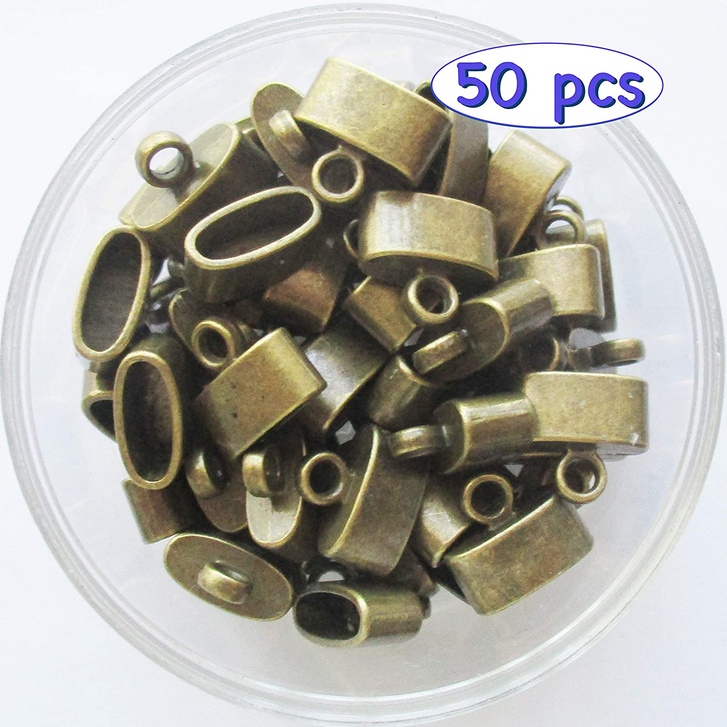 Tibetan Necklace Flat Cord Crimp End Caps Jewelry/ Findings/ and/ Supplies 50 Pieces