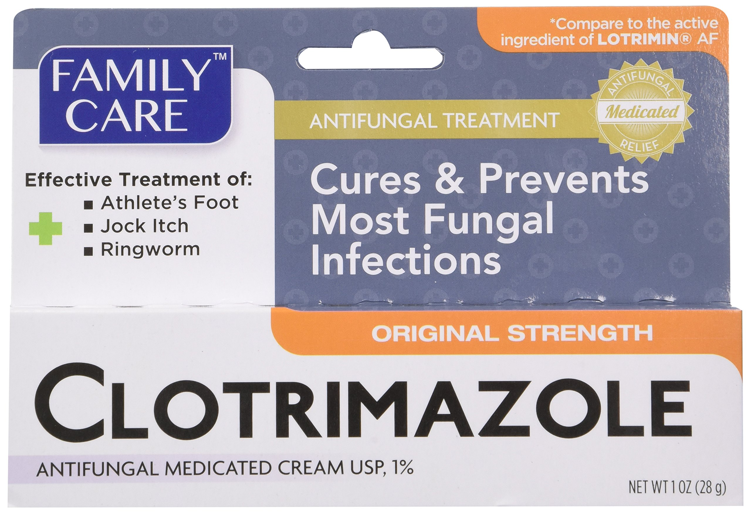 Family Care Clotrimazole Anti Fungal Cream, 1% USP Compare to Lotrimin 1oz. (Pack of 3)
