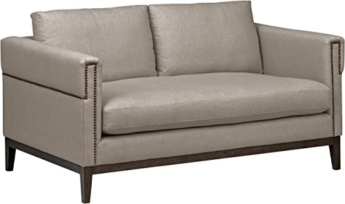 Amazon Brand Stone Beam Westport Modern Nailhead Upholstered Loveseat Sofa Couch