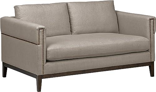 Amazon Brand Stone Beam Westport Modern Nailhead Upholstered Loveseat Sofa Couch