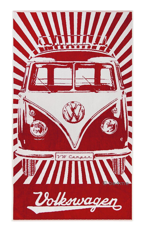 VW Collection by BRISA VW T1 Serviette de Plage - Bleu