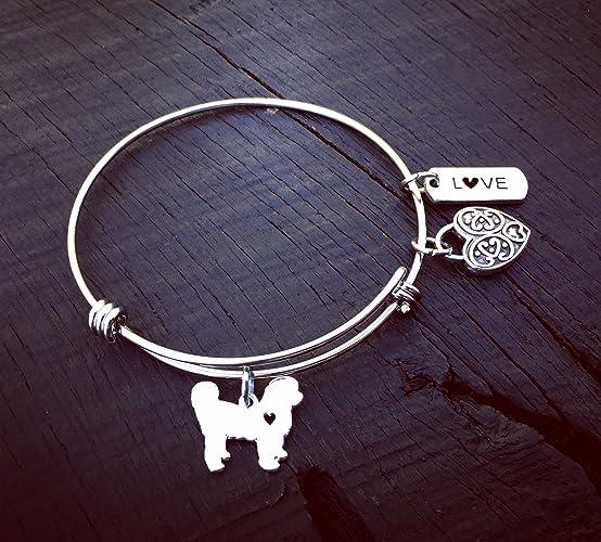 Amazon com: Bichon Charm Bracelet | Bichon Frise Jewelry