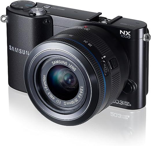 Samsung NX1000 - Smart cámara de 20.3 megapíxeles (Pantalla de 3 Pulgadas), Color Negro: Amazon.es: Electrónica