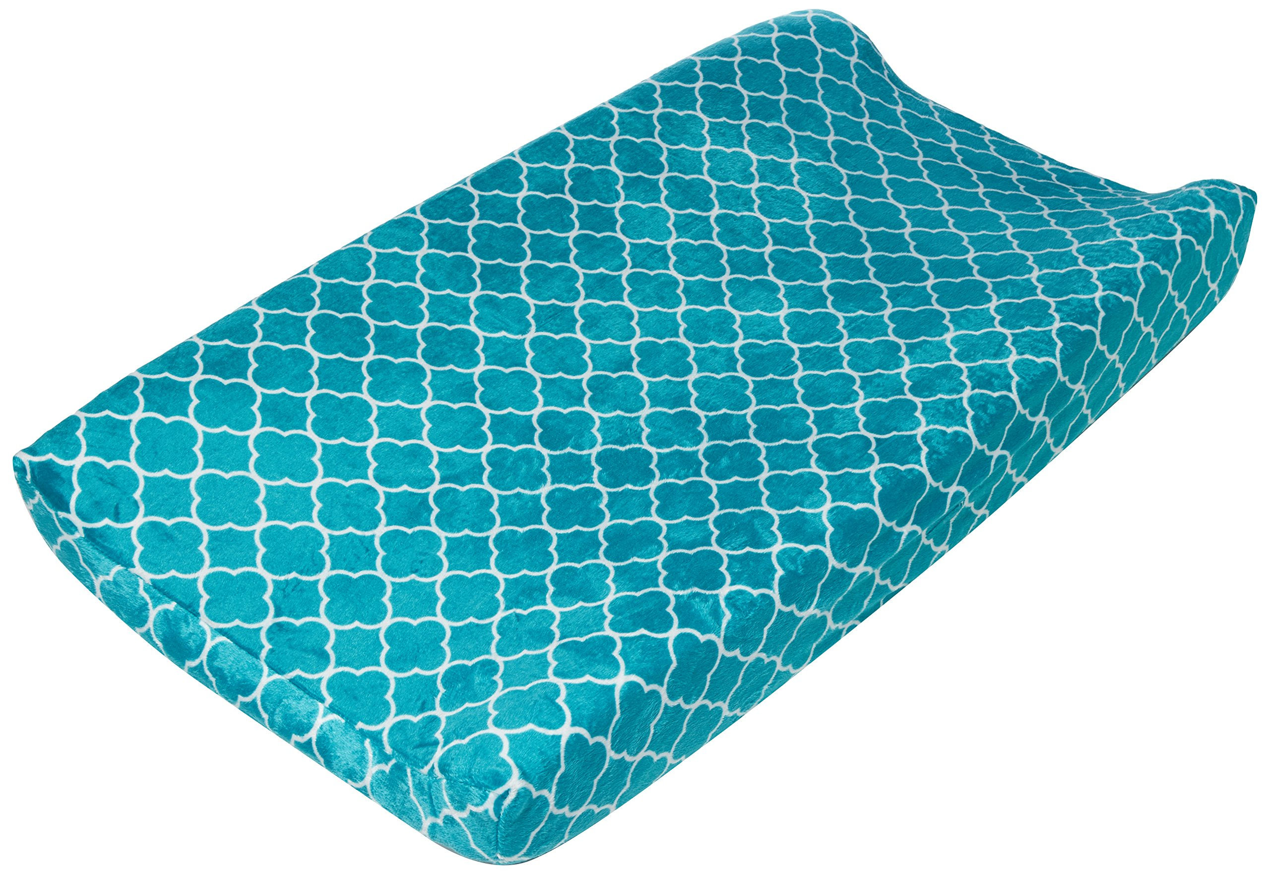 Summer Infant Ultra Plush Changing Pad Cover, Teal Medallion