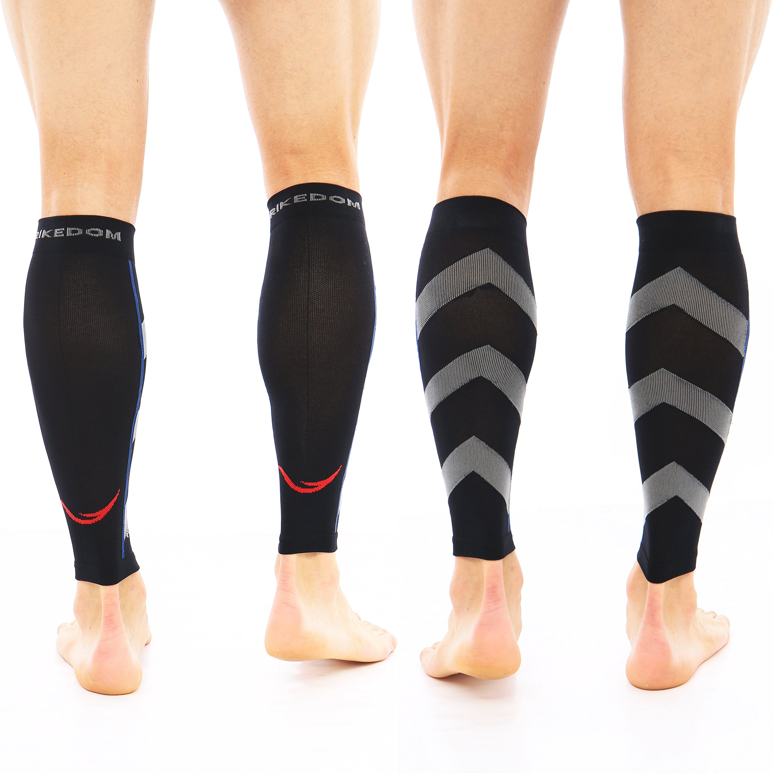 dcead8158a Graduated Calf Compression Sleeves Socks: Best Men & Women Pain Relief  Stocking for Shin Splints, Leg Cramps Strains, Varicose Veins, Swelling.