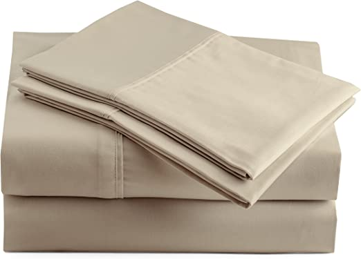 1 full size white hilton sheet set t-180 percale hotel flat fitted 2 pillow case