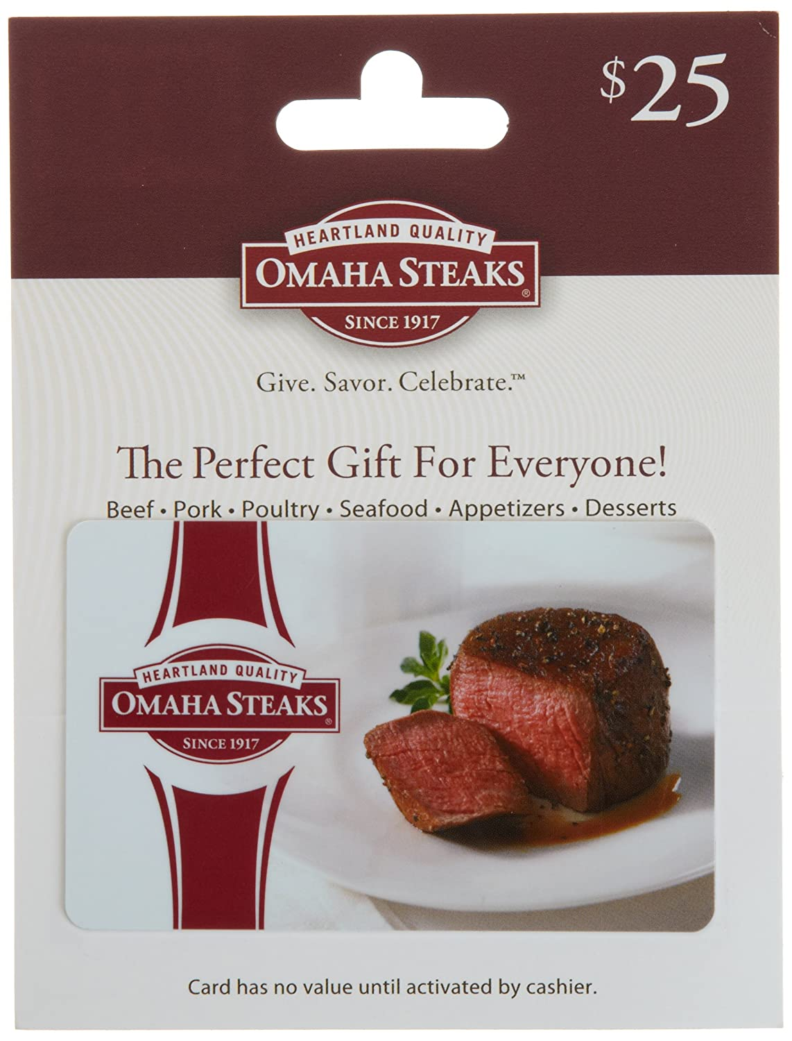 Omaha Steaks Gift Card Omaha Steaks Gift Card $25