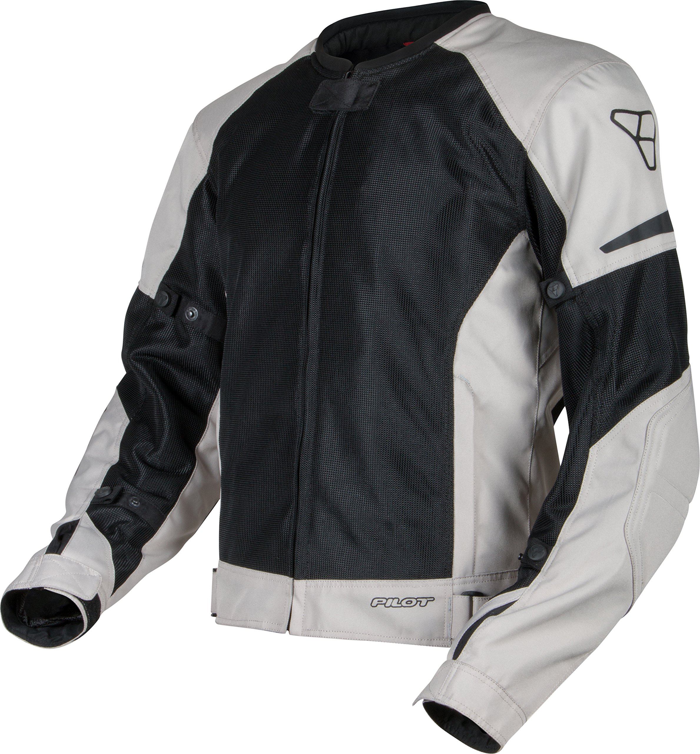Pilot Motosport Men's Slate Air Mesh Motorcycle Jacket, SILVER, S (Small)