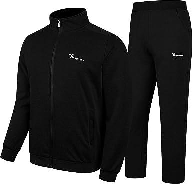 Men/'s Athletic Fleece Sweater Jogging Pants Casual Gym Running Track Suit Set