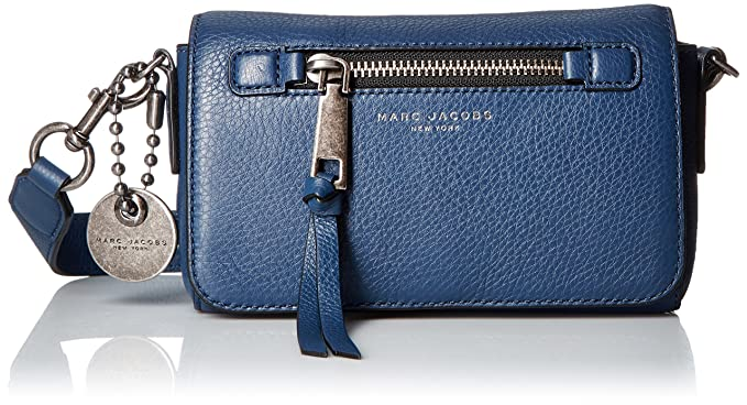 1b13ab5f3 Amazon.com: Marc Jacobs Recruit Crossbody Bag, Dark Blue: Clothing