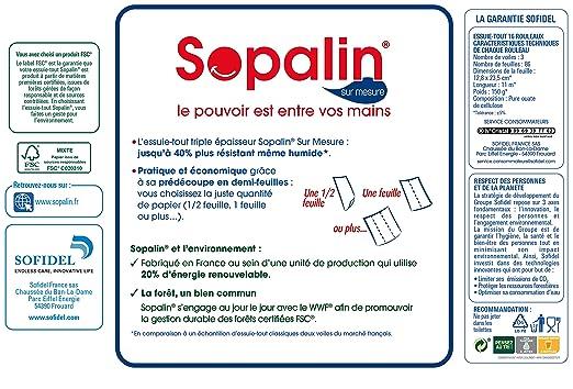 Sopalin - Papel de cocina - Mega Pack - 16 rodillos: Amazon.es: Alimentación y bebidas