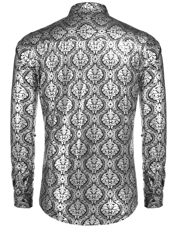 COOFANDY Men/'s Luxury Design Shirts Floral Dress Shirt Casual Button Down Shirts