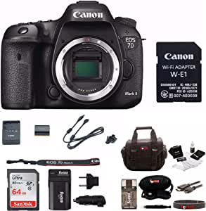Canon EOS 7D Mark II Digital SLR Camera (Body Only) with Free Bundle A