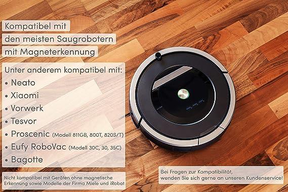 Cinta magnética para robot aspirador (con tiras adhesivas) – XXL tiras de limitación para robot aspirador de ANDRADO 5.5m marrón: Amazon.es: Hogar