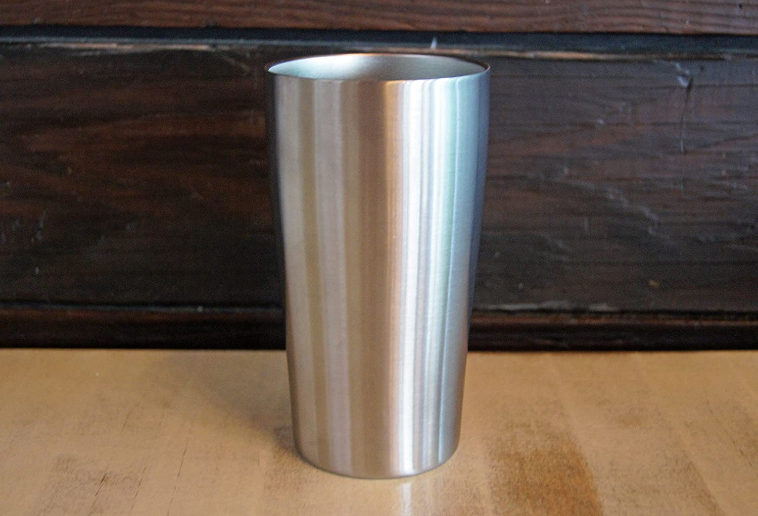 set of 2 Stainless Vacuum Insulated Beer Tumbler 16oz Pub Pint Glass by Lancaster Steel