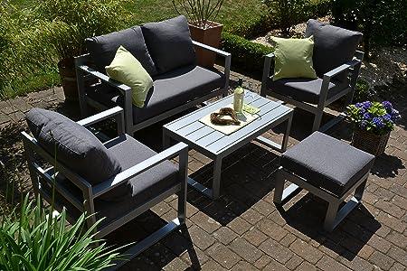 Amazon.de: bomey Aluminium Lounge Set I Gartenmöbel Set Lyon 5 ...