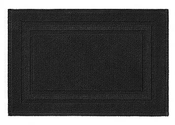 Rhomtuft Tapis De Bain Grace 15 70 X 120 Cm Noir Amazonfr Cuisine