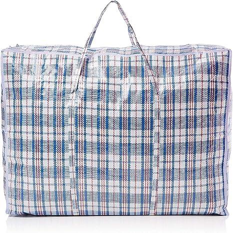 NEW HEAVY DUTY REUSABLE LAUNDRY STORAGE /& SHOPPING  BAG ZIPPED STRONG JUMBO BAGS