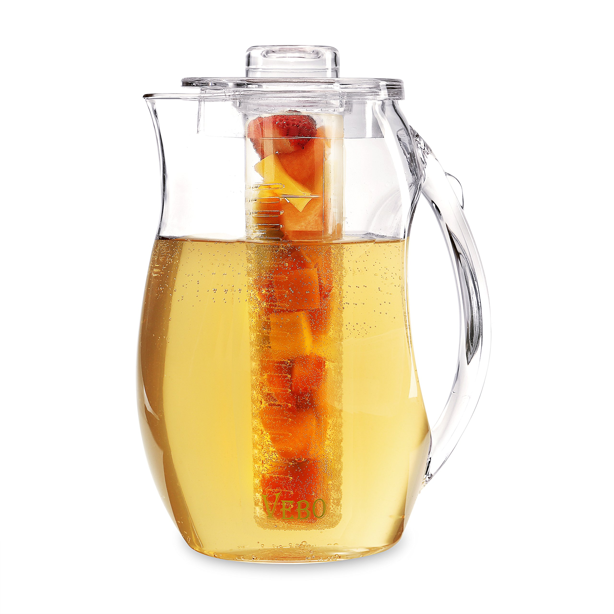 VeBo Tea and Fruit Infusion Pitcher With Ice Core Rod - 2.9 Quart Water Pitcher Infuser by VEBO (Image #5)