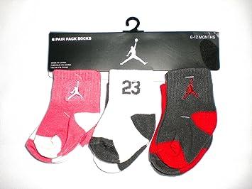 NIKE Air Jordan pour bébé, 6 paires de chaussettes, taille : 06–12