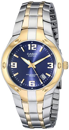 Casio EF106SG-2AV - Reloj Edifice analógico, sumergible a 100 m, color dorado y cromo: Casio: Amazon.es: Relojes