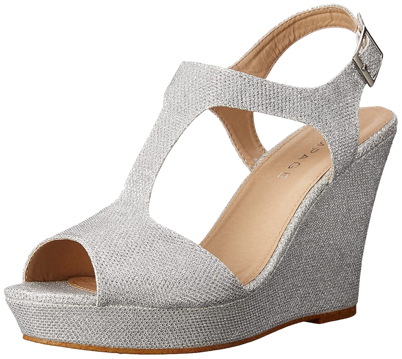 Amazon.com | Rampage Women\'s Kalico Platform Dress with Ankle Strap ...