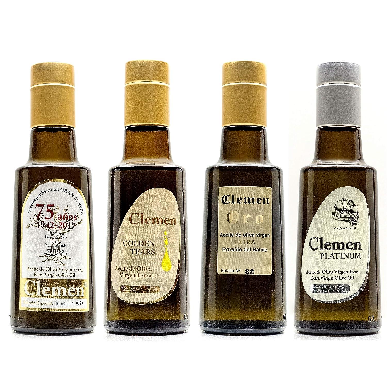 Aceite de Oliva Virgen Extra Clemen 250 mL Gourmet Pack 6 Unidades: Amazon.es: Alimentación y bebidas