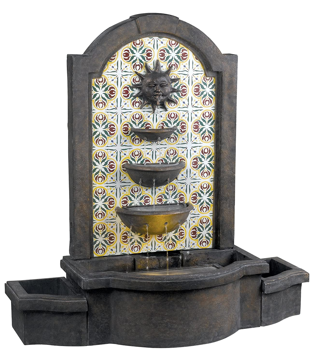 Amazon kenroy home 50721md cascada indooroutdoor floor amazon kenroy home 50721md cascada indooroutdoor floor fountain in madrid finish with patterned tile motif home kitchen workwithnaturefo