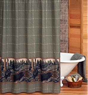 Amazon.com: Black Bear Lodge Shower Curtain Hooks - Set of 12 ...
